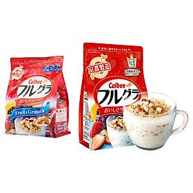 Set 02 túi ngũ cốc trái cây ăn liền Calbee (gói đỏ) - Nhập khẩu Nhật Bản