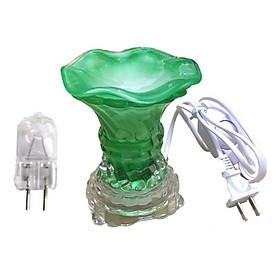 Đèn xông tinh dầu thủy tinh vặn và 1 bóng đèn (Giao màu ngẫu nhiên)