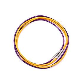 Combo 2 dây vòng cổ cao su vàng, tím móc inox DCSVI1 - Dây dù bọc cao su