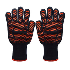 Silicone Kevlar Cotton Heat Insulation BBQ Barbecue Heatproof Grill Microwave Oven Glove