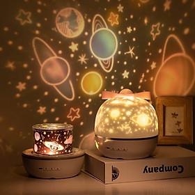 Chill Party-Đèn Chiếu Ngàn Sao 6 phong cách kiêm đèn ngủ xoay tự động, tích hợp phát nhạc bằng Bluetooth nhiều màu sắc tuyệt đẹp, sạc lại bằng USB