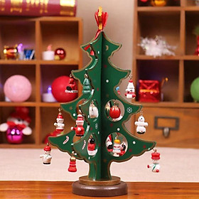 Christmas Tree Wooden Christmas Tree Creation DIY Production Family
