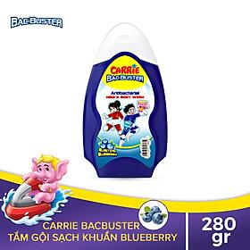 Sữa Tắm Gội Sạch Khuẩn Cho Bé Carrie BacBuster Blueberry 280g