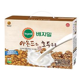 Sữa Đậu nành Óc Chó Hạnh Nhân Vegemil 190ml - dạng túi  ( 20 túi/ lốc)