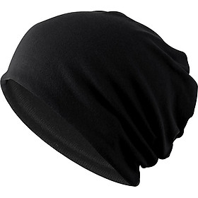 Cotton Slouchy Beanie Hat Skull Cap Solid Stretchy Chemo Skull Hat for Women Men