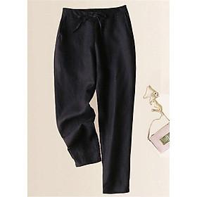Quần linen nữ dáng baggy trơn màu ArcticHunter, thời trang trẻ, thương hiệu chính hãng
