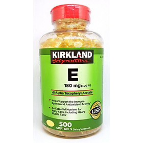 Thực Phẩm Chức năng Viên Uống Đẹp Da Kirkland Signature Vitamin E 400iu 500 Viên