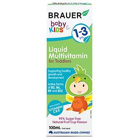 Vitamin tổng hợp Brauer Úc cho trẻ từ 1 – 3 tuổi (100ml)