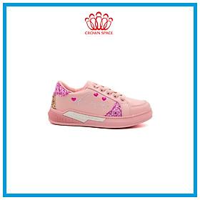 Giày Sneaker Bé Gái Đi Học Cổ Thấp Crown Space UK Active Trẻ em Cao Cấp CRUK257 Siêu Nhẹ Êm Size 26-35/3-12 Tuổi