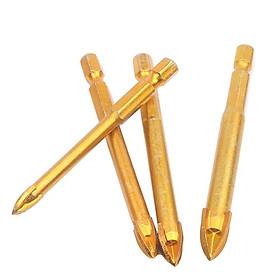 Bộ 4 mũi khoan đa năng 4 cạnh khoan kính, thủy tinh, gạch men 6-12mm