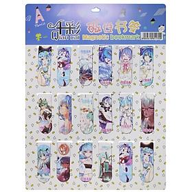 Combo 18 Bookmark Nam Châm Đánh Dấu Sách - Anime (Mẫu Ngẫu Nhiên)