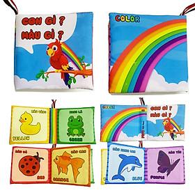 Sách vải Pipo - nhận biết màu sắc - song ngữ Anh Việt chủ đề: Con gì màu gì ( PiPô Việt Nam )