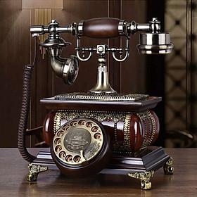 Điện thoại để bàn tân cổ điển phím quay DT15