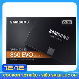 Ổ Cứng SSD Samsung 860 EVO 500GB 2.5 inch SATA iii MZ-76E500BW - Hàng Nhập Khẩu (Box Tiếng Anh)