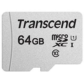 Thẻ Nhớ Micro SD Premium Transcend 64GB Class 10 - 45MB/s - Hàng Chính Hãng