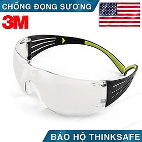 Kính bảo hộ 3M SF401AF chống bụi mắt kính chống tia UV kính chống đọng sương (trắng trong)