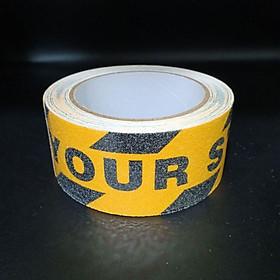 Watch Your Step - Băng keo tape caution nhám chống trơn trượt 4.8cmx5m