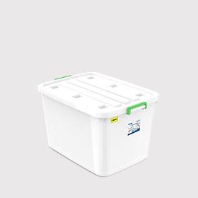 Thùng vuông 140 lít - có bánh xe Duy Tân 0214 (78.5 x 56 x 47 cm) giao quai màu ngẫu nhiên thùng đựng thực phẩm đồ đa năng
