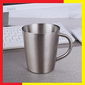 Ly Cốc Uống Nước Inox 304 Giữ Nhiệt tiện dụng Thích hợp cho uống Cafe Nóng hay Nước Ngọt, Bia lạnh đều được Màu inox nguyên bản,Kích Thước 9,6 x 11cm - Cốc Inox giữ nhiệt được làm từ Inox 304 Cao Cấp không gỉ