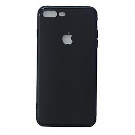 Ốp lưng dẻo Fashion Case khoét táo có nút chắn bụi cho iPhone 7 Plus/8 Plus - Hàng Nhập Khẩu