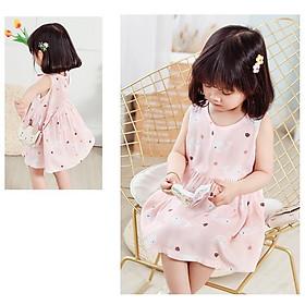Váy cho bé gái, đầm bé gái lớn công chúa thời trang trẻ em lụa đũi mùa hè hàng QCCC loại đẹp mã HD001