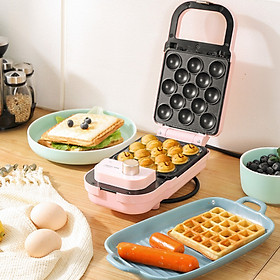 Shidrey Breakfast Maker/Waffle Maker/Small Light Food Maker SW-206T Double-sided heating, intelligent timing, pattern frying, two colors optional