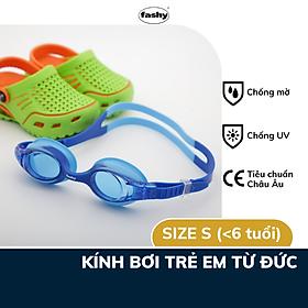 Kính bơi trẻ em 100% nhập khẩu từ Đức, thương hiệu Fashy dòng Spark I, đạt tiêu chuẩn Châu Âu, chống mờ, chống tia UV, size S thiết kế thời trang dành cho bé trai, bé gái dưới 6 tuổi