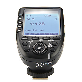 Bộ Kích Hoạt Đèn Flash Godox XproP Không Dây Tự Động Màn Hình HSS LCD Lớn Cho PENTAX K-1/ 645Z/ K70/ K50/ KP/ K-S2/ K-3II-Đen (2.4G)(1/8000s)