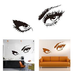 Miếng Dán Tường Trang Trí Hình Đôi Mắt Audrey Hepburn