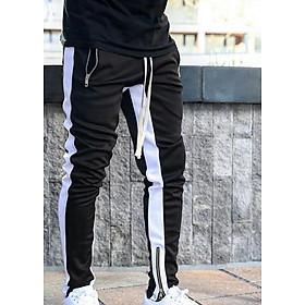 Quần nam jogger thun túi hộp màu đen zip chân chất vải thun phối hợp với áo thun nam tay lỡ form rộng siêu chất The Ngầu Style