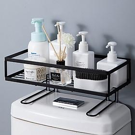 Kệ nhà tắm, Kệ để đồ toilet thông minh Kệ để đồ phòng tắm phòng vệ sinh dán tường không cần khoan đục