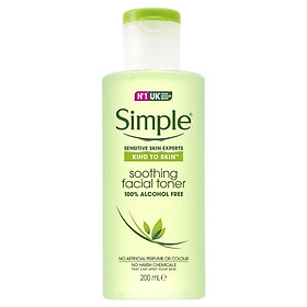 Simple Kind To Skin Facial Toner Soothing 200ml