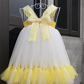 Váy xòe cho bé gái ️Váy thiên nga vàng cho bé gái từ 0 đến 5 tuổi