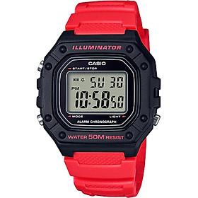 Đồng hồ nam dây nhựa Casio W-218H-4BVDF