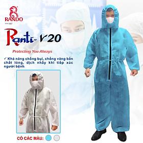 Quần áo phòng dịch, quần áo bảo hộ, Bộ bảo hộ ranti-v20 chính hãng Rando