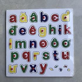 Bảng chữ cái tiếng việt in thường có núm và có dấu