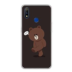 Ốp điện thoại Realme 3 Pro - 0085 GAUBROWN01 - Silicon dẻo - Hàng Chính Hãng