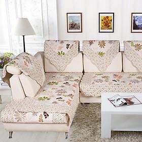 Khăn Phủ Sofa Hình Chiếc Lá Green Reed