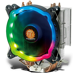 Tt (Thermaltake) Rainbow D400P colorful CPU cooler (multi-platform / support AM4 / 4 heat pipe / LED RGB fan / with silicone grease / mute / intelligent temperature control)