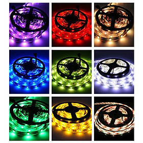 Wi-Fi RGB LED Strip Lights Waterproof 16.4ft 150 LEDs with IR Remote Control & Wi-Fi Controller Smart APP & Voice