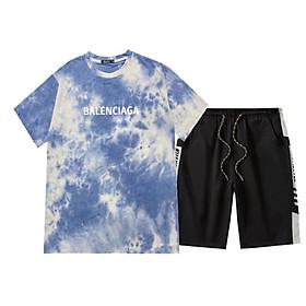 Bộ quần áo thể thao nam vải thun mềm siêu mát loại đồ bộ thể thao thun lạnh mặt thoải mái Loang Balenciaga + Kauistyle