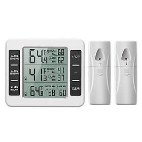 Máy đo nhiệt độ, độ ẩm từ xa không dây (Tặng kèm quạt cắm cổng USB vỏ thép giao màu ngẫu nhiên)