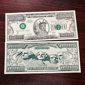 Tờ tiền 1 triệu đô la mỹ lưu niệm, chân dung 4 nhà lập quốc, dùng sưu tầm, quà tặng độc đáo, tặng kèm bao lì xì