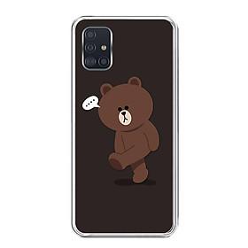 Ốp lưng điện thoại Samsung Galaxy A51 - Silicon dẻo - 0085 GAUBROWN01 - Hàng Chính Hãng