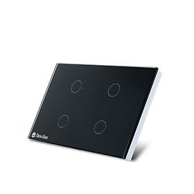 Công tắc cảm ứng âm tường điều khiển từ xa bằng wifi và giọng nói 4 nút bấm chính hãng Rạng Đông Model: RD SW.4