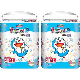 Combo 2 Bịch Tã Quần Goon Friend Doremon Mới Gói Siêu Đại XXL42 (15kg ~ 25kg)-0