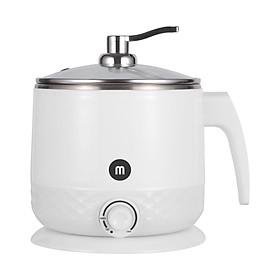 Ca nấu đa năng Mishio MK214 600W 1,5L inox 304, nấu nước, nấu mì, lẩu - Màu trắng xám - Hàng chính hãng