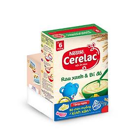 Bột Ăn Dặm Nestle Cerelac - Rau Xanh Và Bí Đỏ (200g) - Tặng Kèm Bộ Chén Muỗng Ăn Dặm