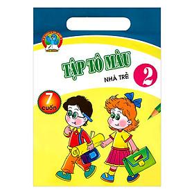 Bộ Túi Tập Tô Màu Nhà Trẻ Tập 2 (7 Cuốn)