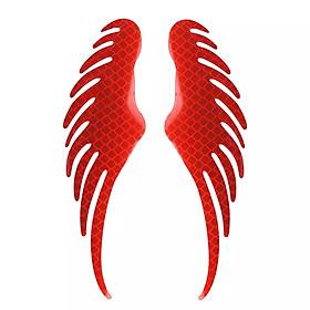 Logo đôi cánh phản quang dán xe ô tô